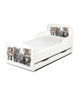 Kitten Toddler Bed with Underbed Storage PriceRightHome