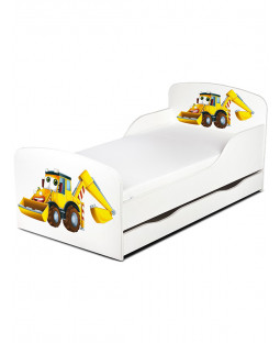 Diggers Toddler Bed with Underbed Storage