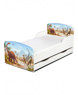 PriceRightHome Jurassic Dinosaurs Toddler Bed with Underbed Storage