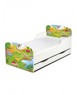 PriceRightHome Dinosaur Toddler Bed with Underbed Storage
