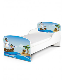 PriceRightHome Pirates Exclusive Design Toddler Bed