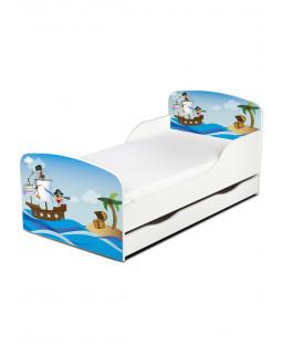 Lit pour tout-petit de conception exclusive Home Pirates avec rangement sous le lit