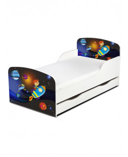 PriceRightHome Space Rocket Toddler Bed with Underbed Storage