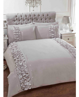 Provence Grey Double Duvet Cover and Pillowcase Set