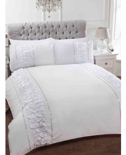 Provence White Super King Duvet Cover and Pillowcase Set