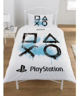 Playstation Inkwash Single Duvet Cover and Pillowcase Set