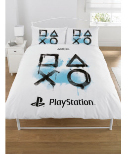 Playstation Inkwash King Size Duvet Cover and Pillowcase Set