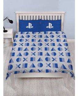 Playstation Layer Rotary Double Duvet Cover and Pillowcase Set
