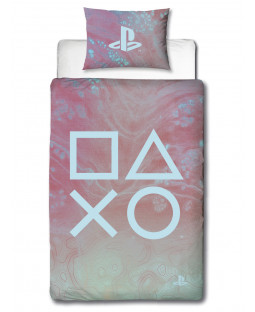 Playstation Marble Single Duvet Cover and Pillowcase Set