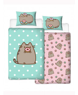 Pusheen Doughnut Single Duvet Cover and Pillowcase Set