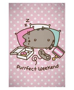 Pusheen Purrfect Weekend Fleece Blanket