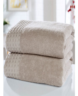 Retreat 2 Piece Towel Bale Latte
