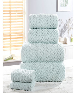 Herringbone 6 Piece Towel Bale Duck Egg