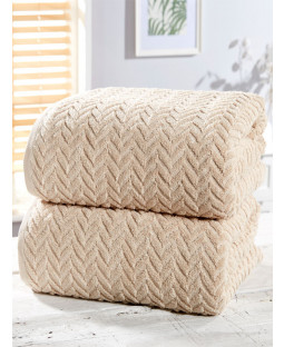 Herringbone 2 Piece Towel Bale Natural