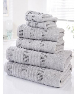 Spa 6 Piece Towel Bale Silver
