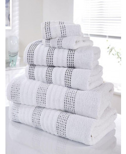 Spa 6 Piece Towel Bale White