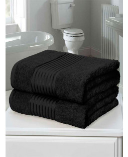Windsor 2 Piece Towel Bale Black