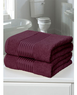 Windsor 2 Piece Towel Bale Plum