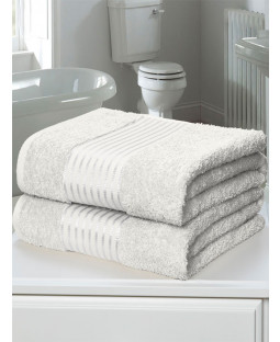 Windsor 2 Piece Towel Bale White