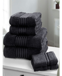Windsor 6 Piece Towel Bale Black