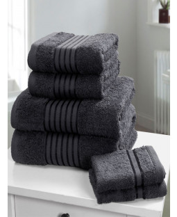 Windsor 6 Piece Towel Bale Grey