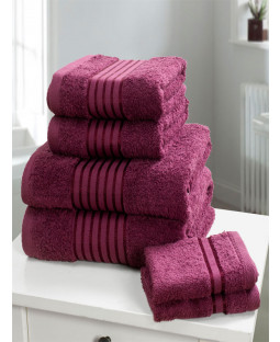 Windsor 6 Piece Towel Bale Plum