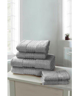 Windsor 6 Piece Towel Bale Silver