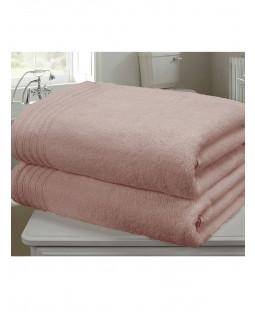 Asciugamano 2 pezzi So Soft in rosa scuro