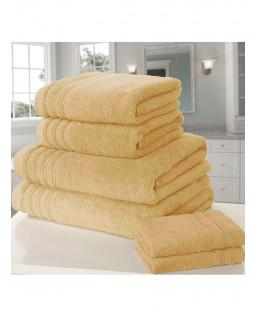 Asciugamano 6 pezzi So Soft Bale Ocra