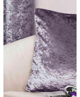 Belle Maison Cushion Cover, Crushed Velvet Range, Amethyst