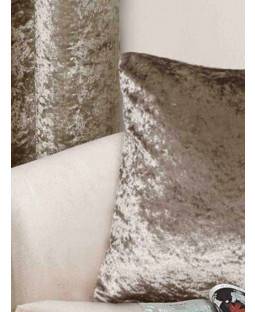 Belle Maison Cushion Cover, Mink- Crushed Velvet Range
