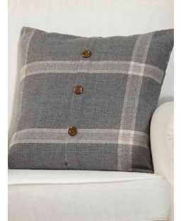 Belle Maison Cushion Cover  - Plaid Check Range, Grey