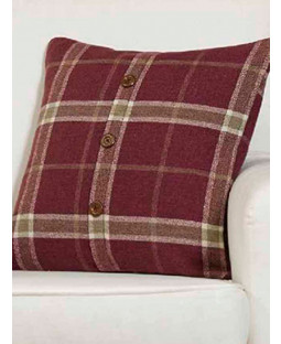 Belle Maison Cushion Cover  - Plaid Check Range, Raspberry Pink