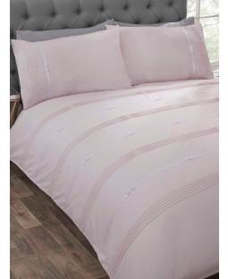 Clarissa Duvet Cover and Pillowcase Bed Set - King, Blush