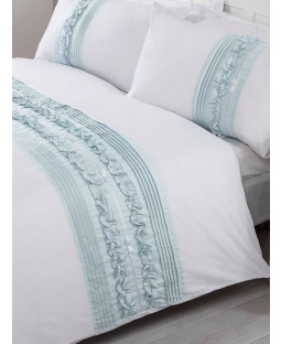 Tilly Duvet Cover and Pillowcase Bed Set - Double, Duck Egg