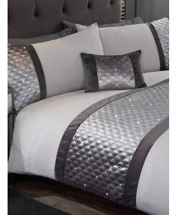 Parure de lit housse de couette et taie d'oreiller Hollywood - Simple, argent