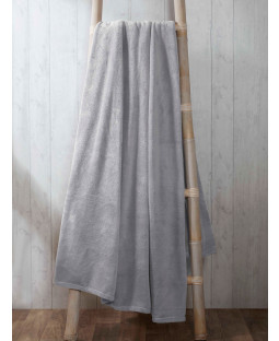 Coral Fleece Blanket 150cm x 200cm - Silver
