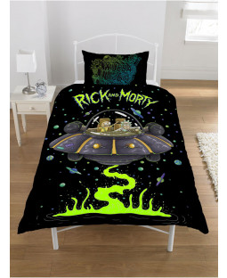 Rick and Morty Single Duvet Cover and Pillowcase Set