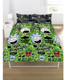 Rick and Morty Get Schwifty Double Duvet Cover Set