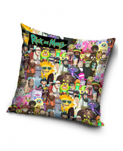 Rick and Morty Filled Square Cushion