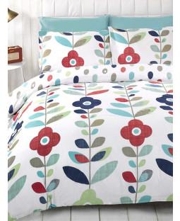Floral Double Reversible Duvet Cover and Pillowcase Set - Lulu Design