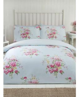 Maisie Floral Double Duvet Cover Set - Teal