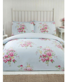 Maisie Floral King Size Duvet Cover Set - Teal