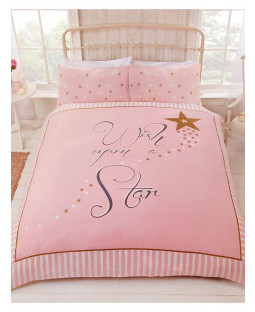 Wish Upon a Star Double Duvet Cover and Pillowcase Set