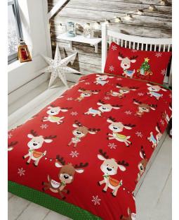 Rudolph & Friends Single Christmas Duvet Cover Bedding Set