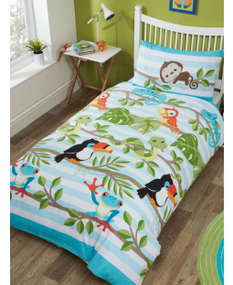 Rainforest 4 in 1 Junior Bedding Bundle (Duvet, Pillow and Covers)
