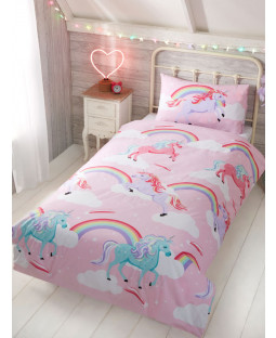 My Little Unicorn Single Housse de couette et taie d'oreiller