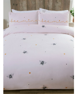 Bee Mine Single Duvet Cover and Pillowcase Set