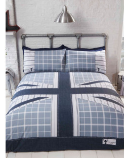 Cool Britannia Double Duvet Cover Set - Blue