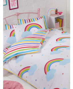 Rainbow Sky Double Duvet Cover and Pillowcase Set